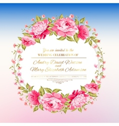 Peony garland vector image vector image