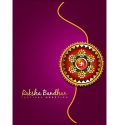 Raksha bandhan festival background vector