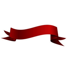 Realistic shiny red ribbon isolated on white vector image