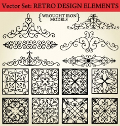 Retro design elements vector