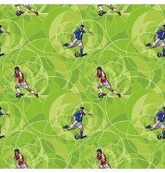 Seamless pattern with soccer players vector