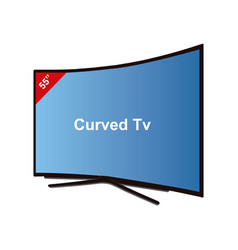 Smart tv curved-55 inches vector