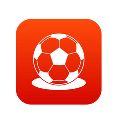 soccer ball icon digital red vector image vector image