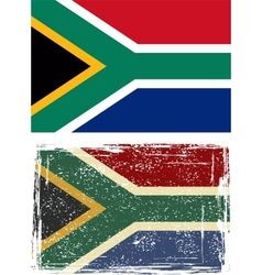 South african republic grunge flag vector