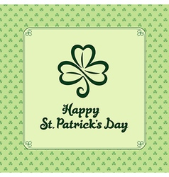 St patrick light vector image vector image