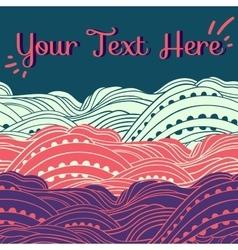 Three Waves Horizontal Pink vector image vector image