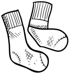 doodle socks vector image