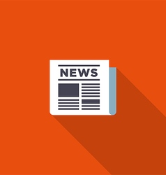 News icon flat design vector