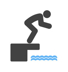 diving i vector image