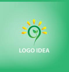 logo idea conceptidea vector image