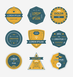 Set of abstract geometric labels icons vector