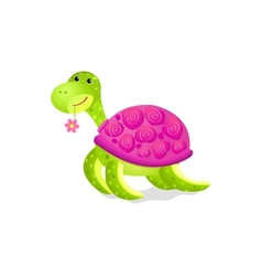 cute turtle toy vector image