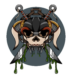 Skull demon hardcore vector