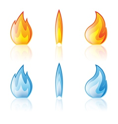 flame red blue vector image