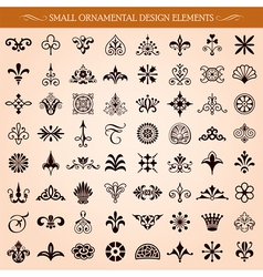 Small Ornamental Design Elements vector image