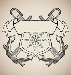 Yacht Club Label Emblem Design Elements vector image