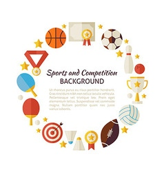 Flat style circle template of sport recreation and vector