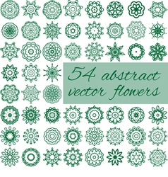 54 abstract flowers vector