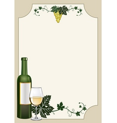 Wine shield vector