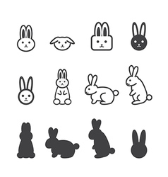 Bunny icon vector