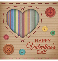 Valentines day cardboard card vector