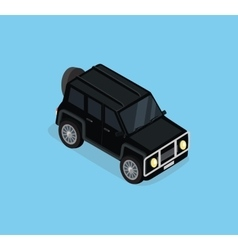 Isometric safari off road car vector