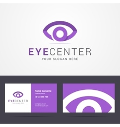 Logo and business card template with eye sign vector