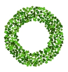Circle frame with clover leaves vector