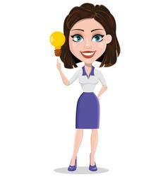 Beautiful business woman having idea vector