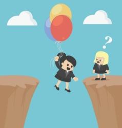 Business woman concepts successful businessman aft vector