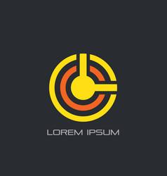 circle wifi icon logo vector image vector image