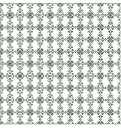 Dark olive green damask decorative pattern vector