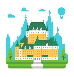 Flat design frontenac chateau quebec vector