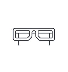 glasses thin line icon linear symbol vector image vector image