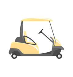 Golf car golf sport equipment vector