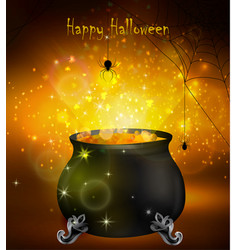 Halloween witches cauldron vector