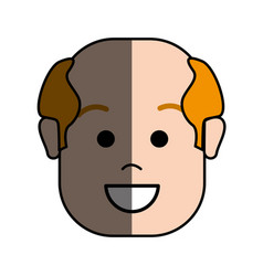 Happy face man with hairstyle vector