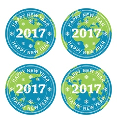 happy new year 2017 rubber stamps vector image vector image