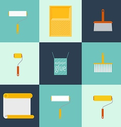 Home repair flat icons vector image vector image