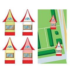 House shaped pointers vector image vector image
