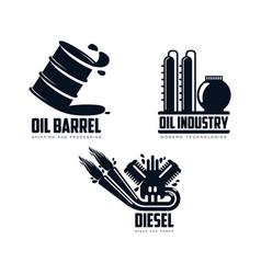 icon gasoline engine oil refinery barrel vector image vector image