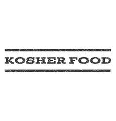 Kosher food watermark stamp vector