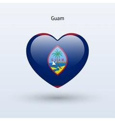 Love guam symbol heart flag icon vector