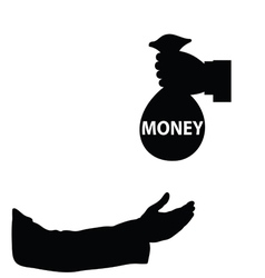 money in hand vector image vector image