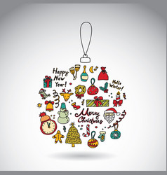 new year ball objects vector image