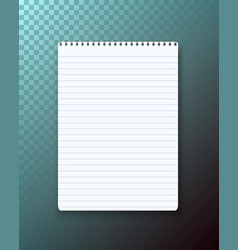 notepad on transparent background vector image vector image