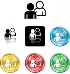 people networking icon vector image vector image