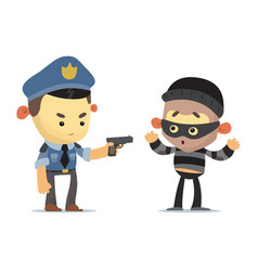 police and thief vector image vector image