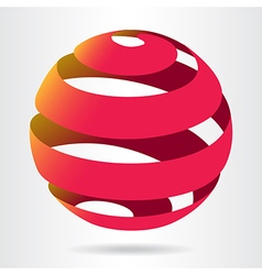 Ribbon ball sphere vector image