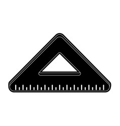 ruler triangle icon image vector image vector image
